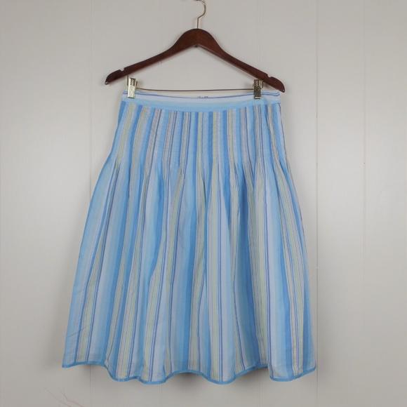 J. Crew Dresses & Skirts - J.Crew Midi Cotton Pleated Skirt Sz 8